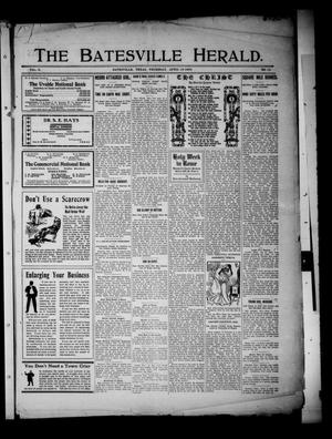 Primary view of object titled 'The Batesville Herald. (Batesville, Tex.), Vol. 8, No. 15, Ed. 1 Thursday, April 16, 1908'.