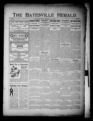 Primary view of object titled 'The Batesville Herald. (Batesville, Tex.), Vol. 7, No. 52, Ed. 1 Thursday, January 2, 1908'.