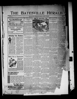 Primary view of object titled 'The Batesville Herald. (Batesville, Tex.), Vol. 12, No. 3, Ed. 1 Thursday, September 28, 1911'.