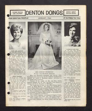 Primary view of object titled 'Denton Doings (Denton, Tex.), Ed. 1 Wednesday, January 1, 1964'.