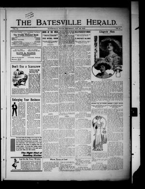 Primary view of object titled 'The Batesville Herald. (Batesville, Tex.), Vol. 10, No. 2, Ed. 1 Thursday, January 20, 1910'.