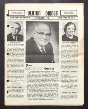 Primary view of object titled 'Denton Doings (Denton, Tex.), Ed. 1 Saturday, December 1, 1962'.