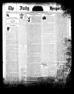 Primary view of object titled 'The Daily Hesperian (Gainesville, Tex.), Vol. 27, No. 295, Ed. 1 Thursday, February 22, 1906'.