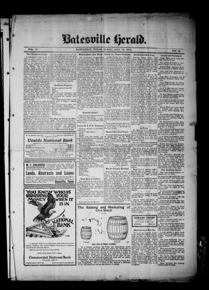 Primary view of object titled 'Batesville Herald. (Batesville, Tex.), Vol. 12, No. 46, Ed. 1 Friday, July 12, 1912'.