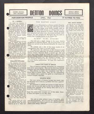 Primary view of object titled 'Denton Doings (Denton, Tex.), Ed. 1 Sunday, April 1, 1962'.