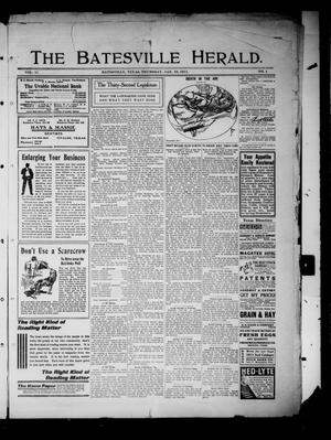 Primary view of object titled 'The Batesville Herald. (Batesville, Tex.), Vol. 11, No. 1, Ed. 1 Thursday, January 19, 1911'.