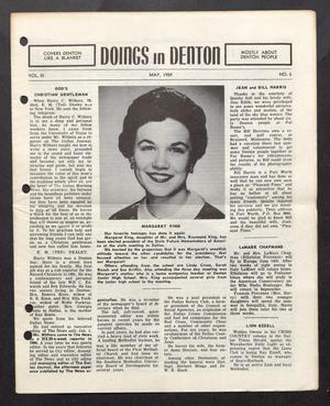 Doings in Denton (Denton, Tex.), Vol. 3, No. 5, Ed. 1, May 1959