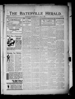 Primary view of object titled 'The Batesville Herald. (Batesville, Tex.), Vol. 9, No. 14, Ed. 1 Thursday, April 15, 1909'.