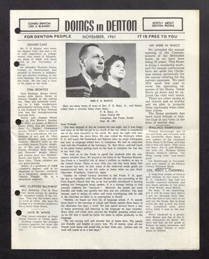 Doings in Denton (Denton, Tex.), November 1961