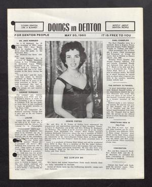 Primary view of object titled 'Doings in Denton (Denton, Tex.), Ed. 1 Friday, May 20, 1960'.