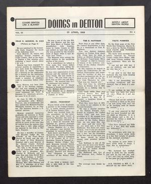 Doings in Denton (Denton, Tex.), Vol. 3, No. 4, Ed. 1, April 1959
