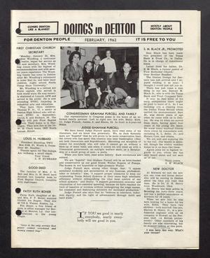 Doings in Denton (Denton, Tex.), February 1962