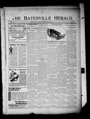 Primary view of object titled 'The Batesville Herald. (Batesville, Tex.), Vol. 10, No. 38, Ed. 1 Thursday, October 6, 1910'.