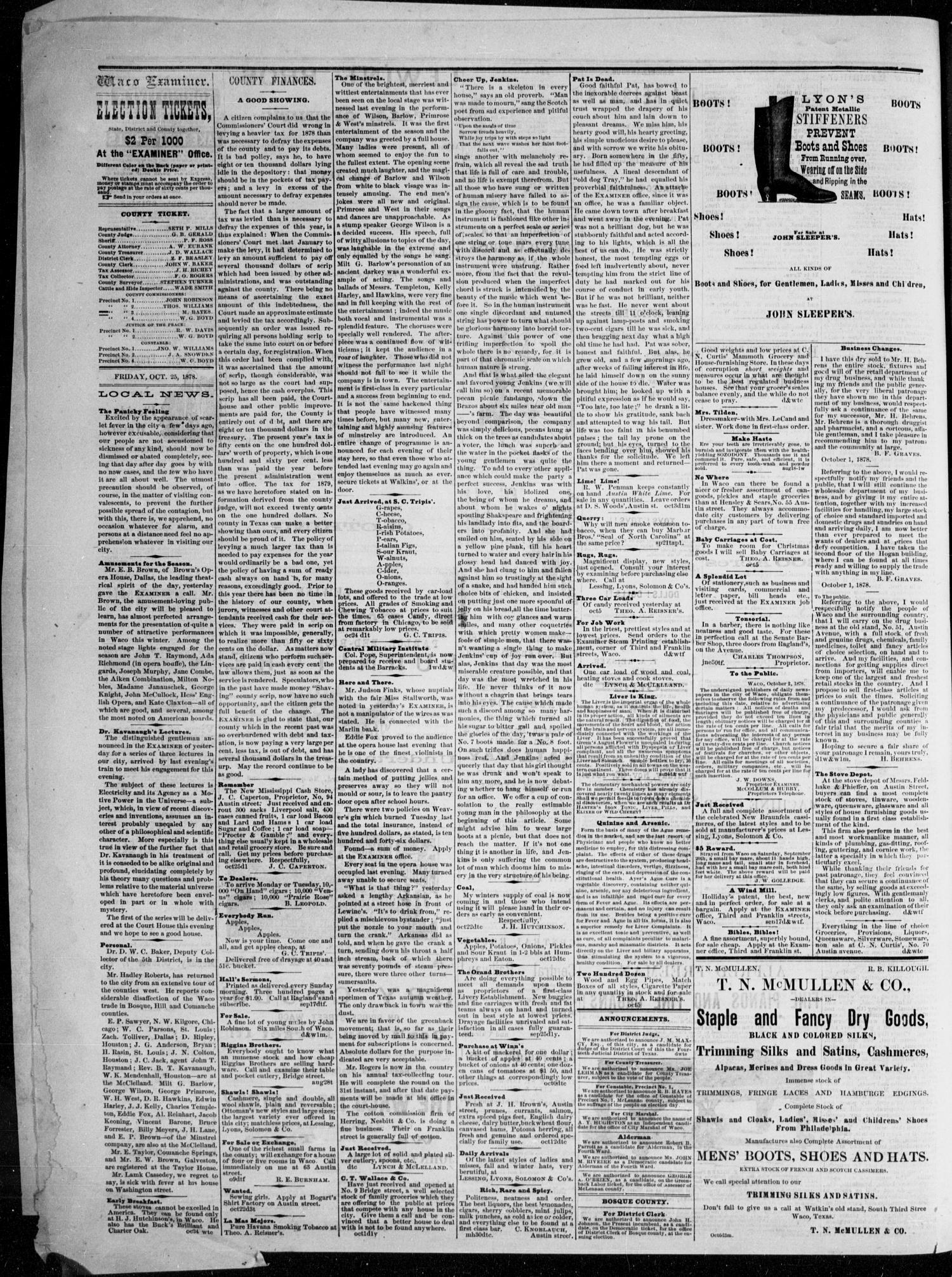 c98ef2b4c19 The Waco Daily Examiner. (Waco