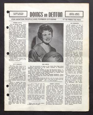 Primary view of object titled 'Doings in Denton (Denton, Tex.), Ed. 1 Monday, February 1, 1960'.