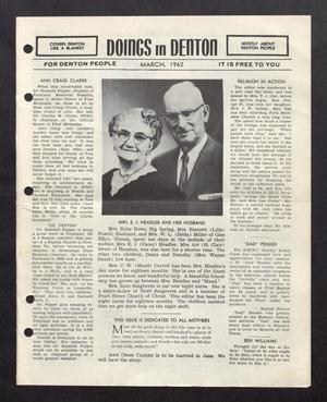 Doings in Denton (Denton, Tex.), March 1962