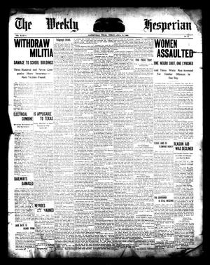 The Weekly Hesperian (Gainesville, Tex ), Vol  37, No  17
