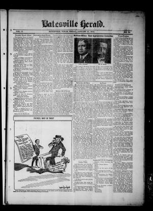 Primary view of object titled 'Batesville Herald. (Batesville, Tex.), Vol. 13, No. 24, Ed. 1 Friday, January 31, 1913'.