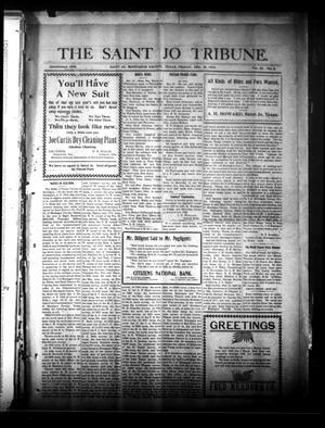 Primary view of object titled 'The Saint Jo Tribune. (Saint Jo, Tex.), Vol. 22, No. 5, Ed. 1 Friday, December 26, 1919'.