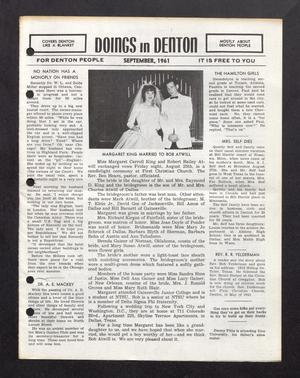 Doings in Denton (Denton, Tex.), September 1961