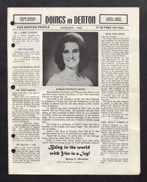 Doings in Denton (Denton, Tex.), January 1962