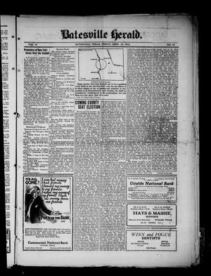 Primary view of object titled 'Batesville Herald. (Batesville, Tex.), Vol. 12, No. 34, Ed. 1 Friday, April 19, 1912'.