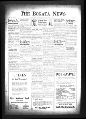 The Bogata News (Bogata, Tex.), Vol. 33, No. 25, Ed. 1 Friday, April 14, 1944