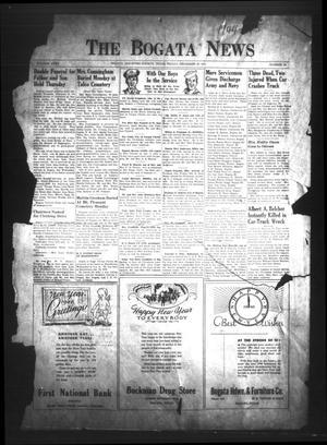 The Bogata News (Bogata, Tex.), Vol. 35, No. 10, Ed. 1 Friday, December 28, 1945
