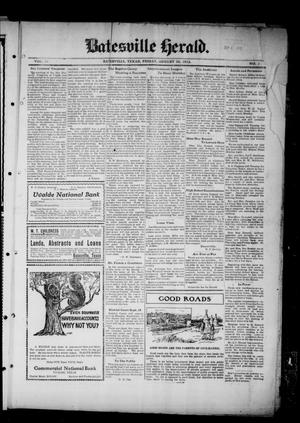 Primary view of object titled 'Batesville Herald. (Batesville, Tex.), Vol. 13, No. 1, Ed. 1 Friday, August 30, 1912'.