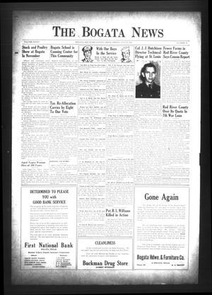 The Bogata News (Bogata, Tex.), Vol. 34, No. 37, Ed. 1 Friday, July 6, 1945