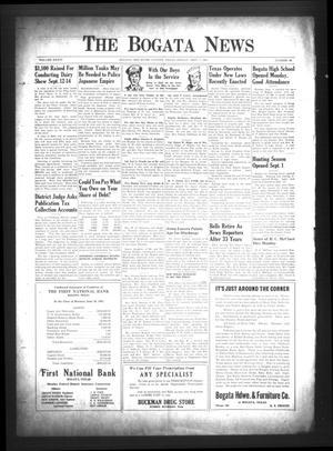 The Bogata News (Bogata, Tex.), Vol. 34, No. 46, Ed. 1 Friday, September 7, 1945