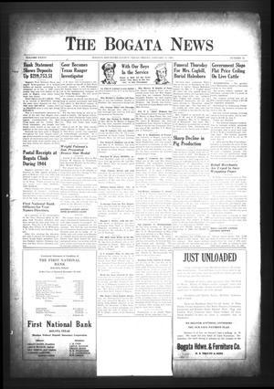 The Bogata News (Bogata, Tex.), Vol. 34, No. 12, Ed. 1 Friday, January 12, 1945