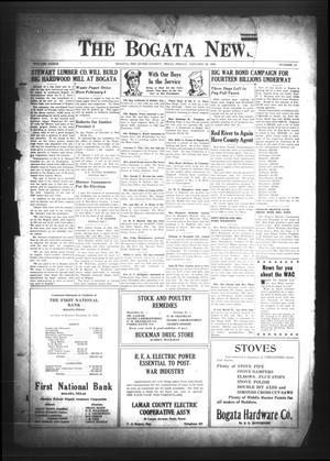 The Bogata News (Bogata, Tex.), Vol. 33, No. 14, Ed. 1 Friday, January 28, 1944