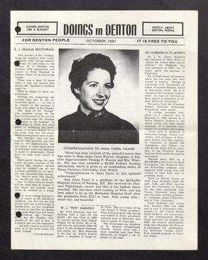 Doings in Denton (Denton, Tex.), October 1961