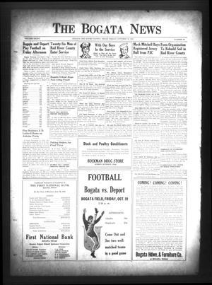 The Bogata News (Bogata, Tex.), Vol. 34, No. 52, Ed. 1 Friday, October 19, 1945