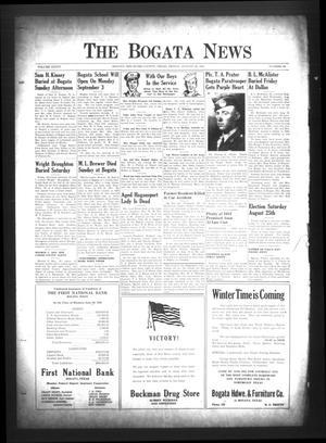 The Bogata News (Bogata, Tex.), Vol. 34, No. 44, Ed. 1 Friday, August 24, 1945