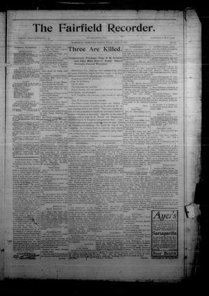 The Fairfield Recorder. (Fairfield, Tex.), Vol. 29, No. 31, Ed. 1 Friday, April 28, 1905