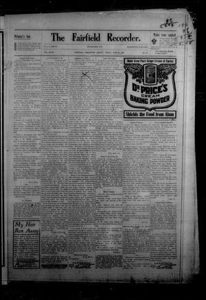 The Fairfield Recorder. (Fairfield, Tex.), Vol. 32, No. 39, Ed. 1 Friday, June 26, 1908