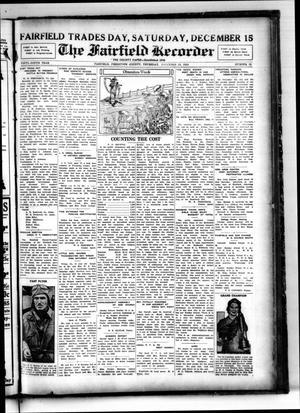 The Fairfield Recorder (Fairfield, Tex.), Vol. 59, No. 12, Ed. 1 Thursday, December 13, 1934
