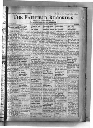 The Fairfield Recorder (Fairfield, Tex.), Vol. 65, No. 26, Ed. 1 Thursday, February 13, 1941