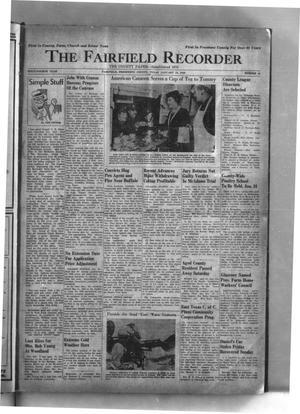 The Fairfield Recorder (Fairfield, Tex.), Vol. 64, No. 19, Ed. 1 Thursday, January 18, 1940