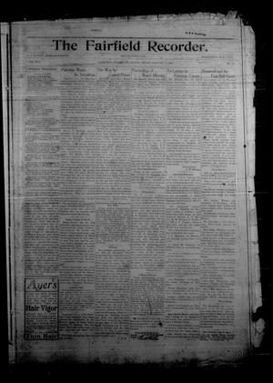 Primary view of object titled 'The Fairfield Recorder. (Fairfield, Tex.), Vol. 30, No. 16, Ed. 1 Friday, January 5, 1906'.