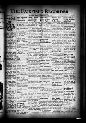 Primary view of object titled 'The Fairfield Recorder (Fairfield, Tex.), Vol. 70, No. 46, Ed. 1 Thursday, August 8, 1946'.