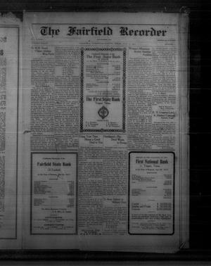Primary view of object titled 'The Fairfield Recorder (Fairfield, Tex.), Vol. 41, No. 43, Ed. 1 Friday, July 13, 1917'.