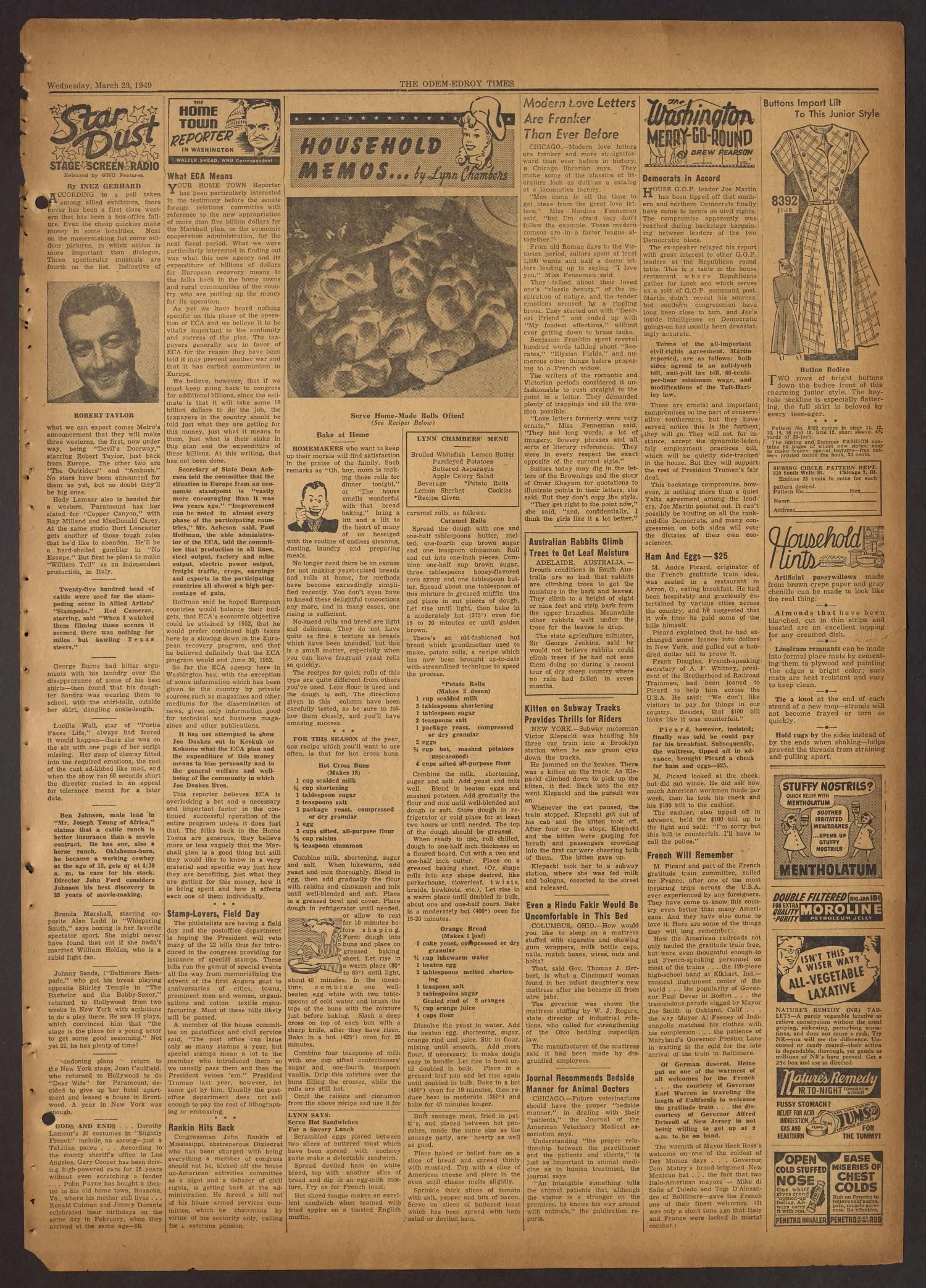 The Odem-Edroy Times (Odem, Tex.), Vol. 1, No. 40, Ed. 1 Wednesday, March 23, 1949                                                                                                      [Sequence #]: 3 of 8