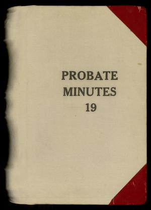 Travis County Probate Records: Probate Minutes 19
