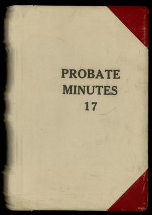 Primary view of Travis County Probate Records: Probate Minutes 17