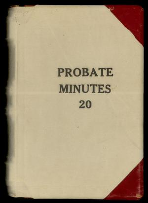 Travis County Probate Records: Probate Minutes 20