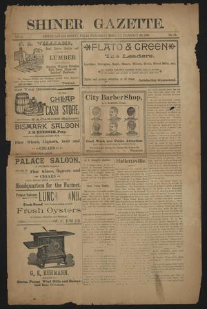 Primary view of object titled 'Shiner Gazette. (Shiner, Tex.), Vol. 5, No. 39, Ed. 1 Wednesday, February 23, 1898'.