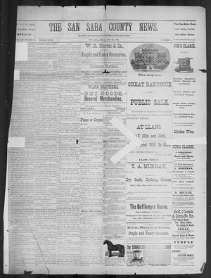 Primary view of object titled 'The San Saba County News. (San Saba, Tex.), Vol. 18, No. 27, Ed. 1, Friday, May 20, 1892'.
